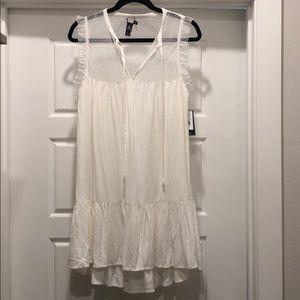 Volcom White sheer top dress